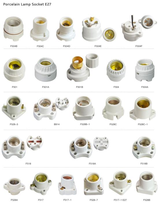 E27 Ceramic Porcelain Led T210 Types Of Electric Lamp