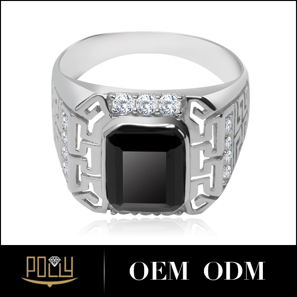 Stylish Mens Diamond Ring Design Cool Smart Design 18k White Gold