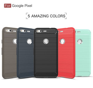 TPU Shockproof Phone Case For Google Pixel XL 2 , Carbon Fiber For Google Pixel XL 2 Case Cover For Mobile Phone