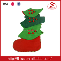 Plush xmas socks decoration