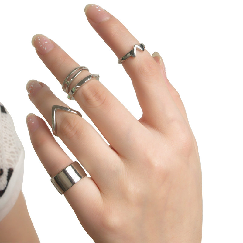 5 piece/lot Korean Style Simple Fashion Bow Index Finger Rings for Women  Diameter 2 CM-in Rings from Jewelry & Accessories on Aliexpress.com |  Alibaba Group