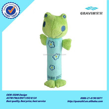 Meet EN71 new baby product customized soft stuffed plush frog baby rattle toy