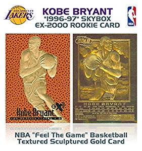 KOBE BRYANT 1996-97 Skybox EX-2000 Rookie FEEL THE GAME 23KT Gold Card Sculpted