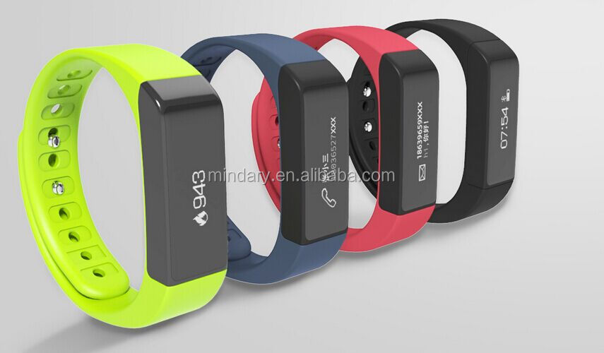 i5plus fitness tracker&fit band with touch panel, steps calories caller id display