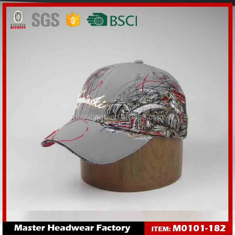 custom grey racing high quality embroidery cap