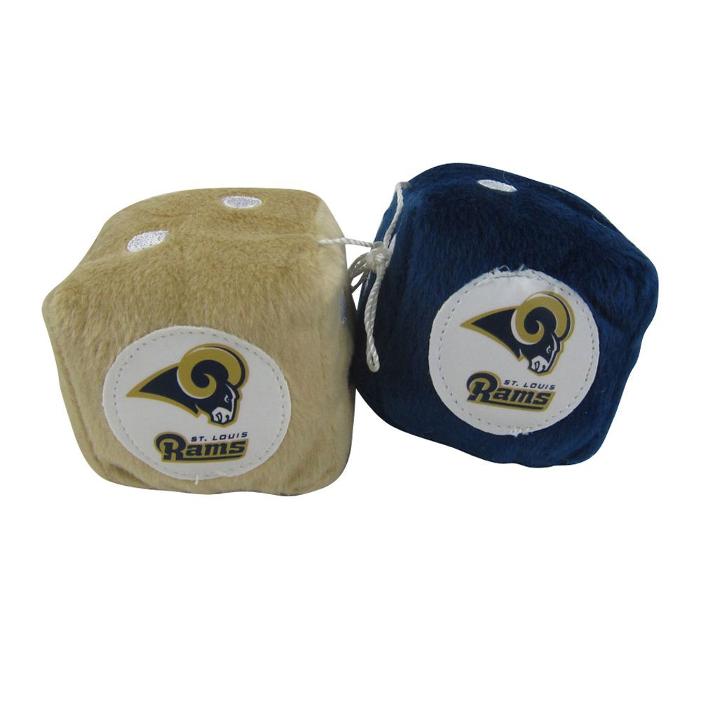 Officially Licensed NFL Hanging Auto Dice Rear View Mirror Ornament - St. Louis Rams