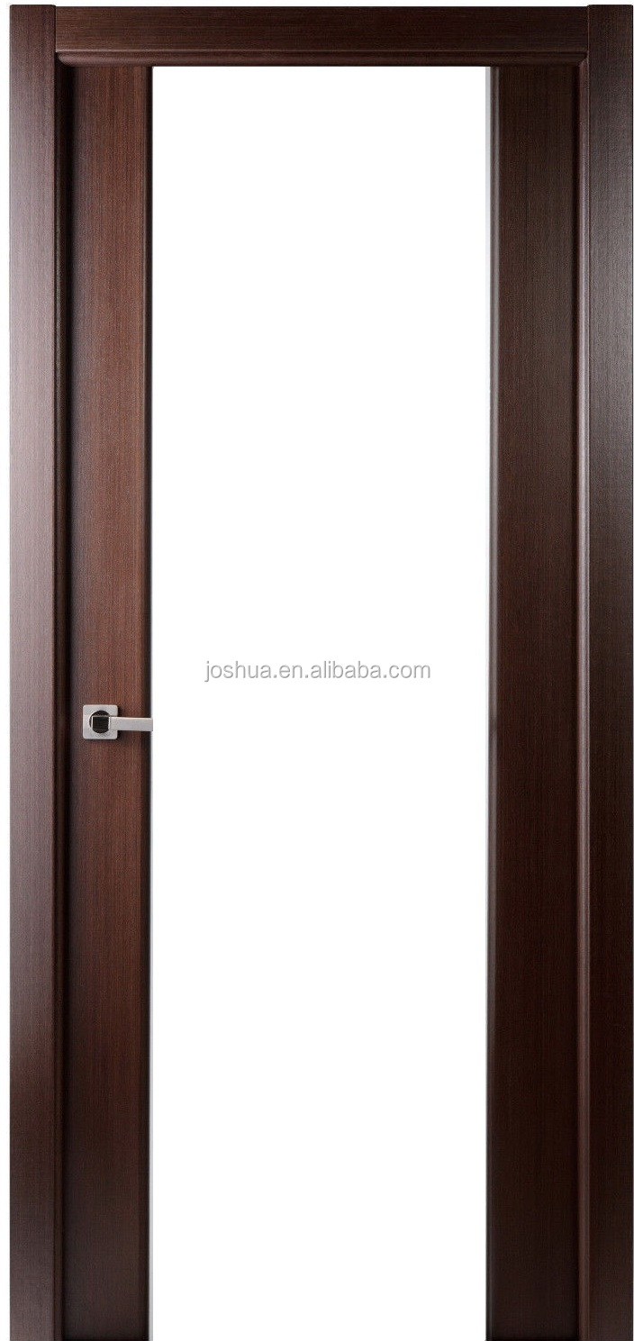 Interior Door With Frosted Glass 30 X 80 Lux Wenge Brown Interior Wood Door Frosted Glass W