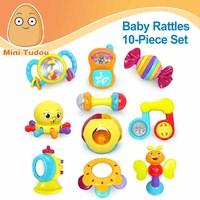 minitudou beb juguetes unids animal mano campanas newbron mordedor juguete colorido sonajero de plstico sonajeros