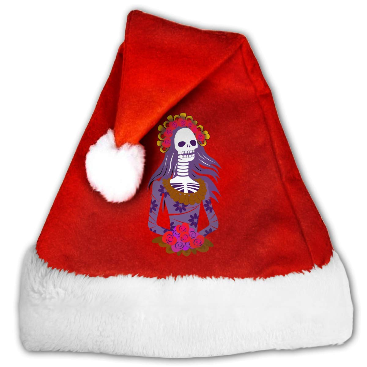 b7577662993a3 Get Quotations · Huangwei Mexican Day of The Dead Clipart Christmas Santa  Hats Red White Traditional Xmas Santa Hats