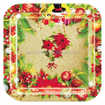Decorative Cheap Plastic Plates/soup And Sandwich Plate/christmas ...