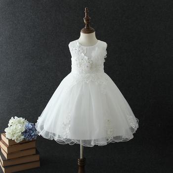 2018 Fairy Dress For Baby White Summer Sleeveless Vietnam Flower 2 Years