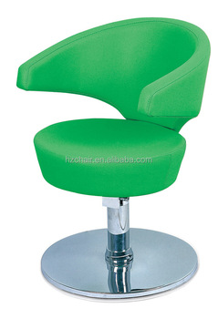 green hair beauty chair for salon; salon styling chair; unique portable styling chair