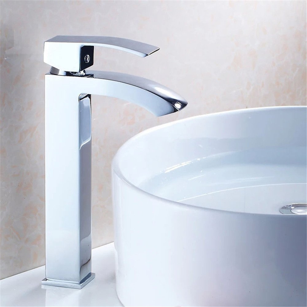 FHLYCF Basin faucet, all copper hot and cold waterfall, basin head, basin pot, washbasin, art basin, water faucet