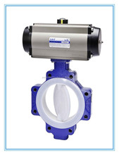 Wafer Type PTFE Lined Electric Butterfly Valve