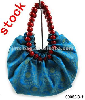 0be020341fc6 Discount Promotion fashion bags ladies handbag with wood beads handle