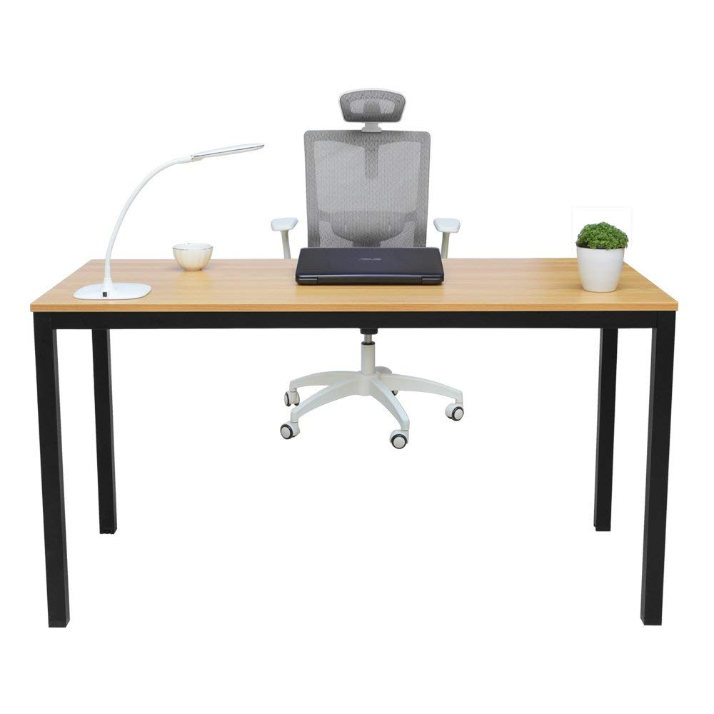 "MIHE Computer Desk,55"" Modern Office Desk PC Laptop Gaming Computer Table Study Writing Desk for Home or Office"