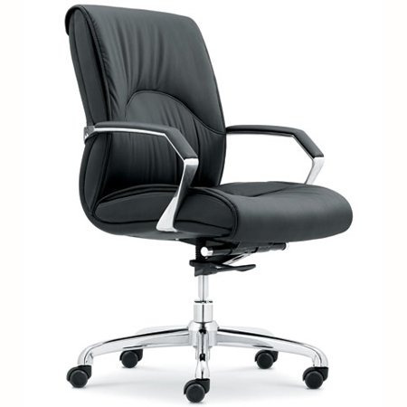 hot selling black cow leather office chair RF-S004A