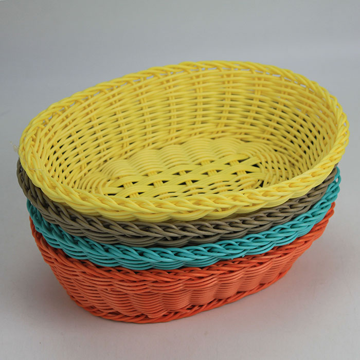 100 Woven Plastic Rattan Handmade Cheap Wicker Baskets