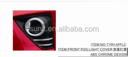 FRONT FOG LIGHT COVER CHROMED FOR TOYOTA TARIS 2014 - BEST SELLING CAR ACCESSORIES
