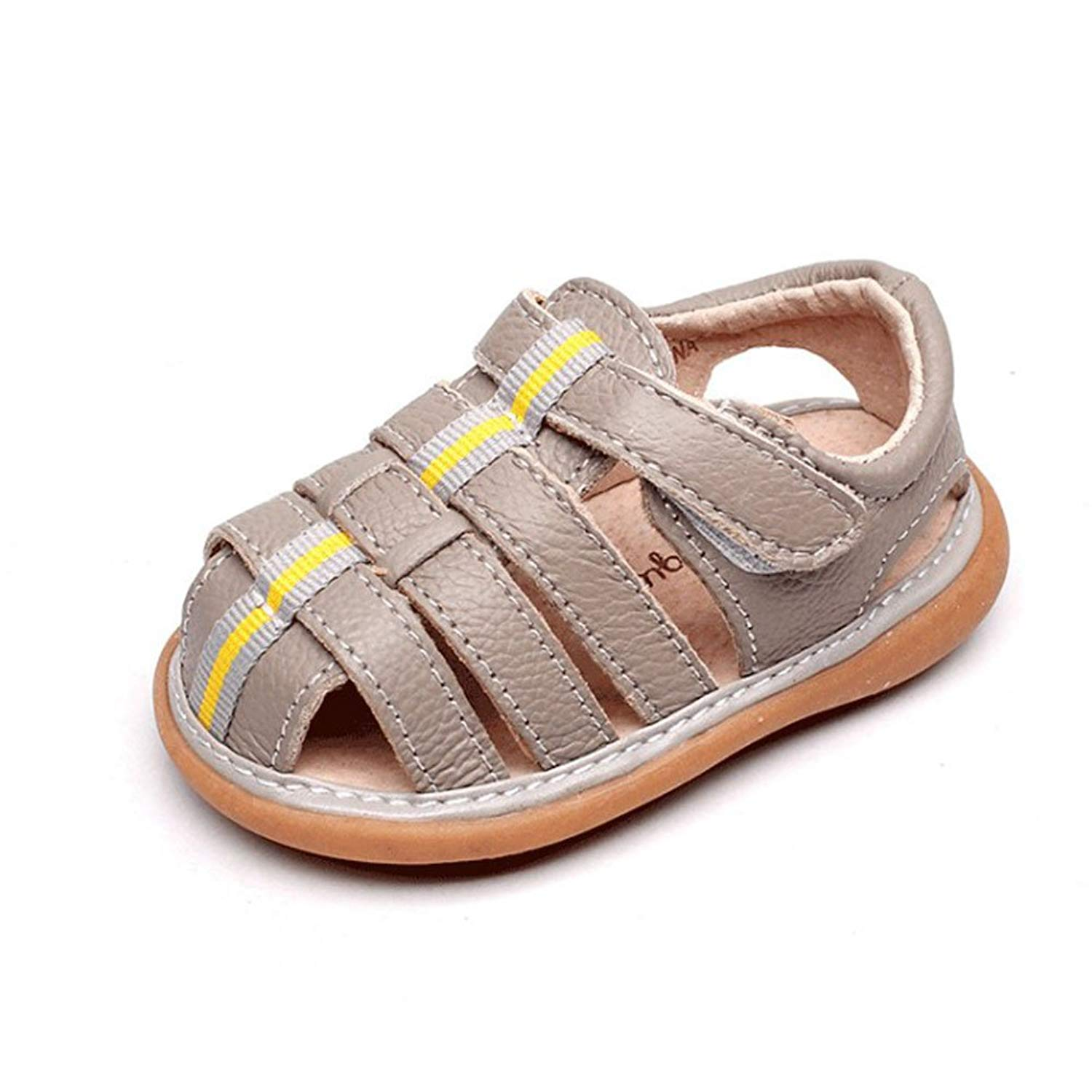 UBELLA Toddler Baby Girls Sandals Squeaky Shoes Bowknot Princess Punch Flats Removable Squeakers