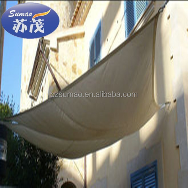 Decorative Beige Sunshine Outdoor Shade Sail For Garden , made in china