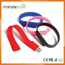 Wholesale Custom Logo udisk Printed Cheap Silicone USB Wristband 1gb to 64gb for gifts