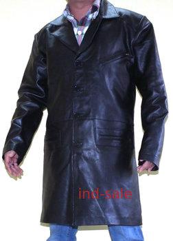 Misura Su Lungo Giacca Cappotto Pelle Blazer In Vera xCSSI6Fq