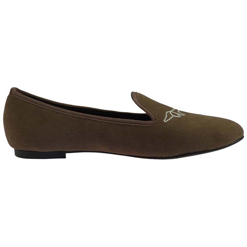 Shoes Velvet Loafers Women Brown Casual w4Tfqf