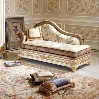 YB62 Luxury French Style Living Room Chaise Lounge/Royal Palace Golden  Reclining Chair/Classic