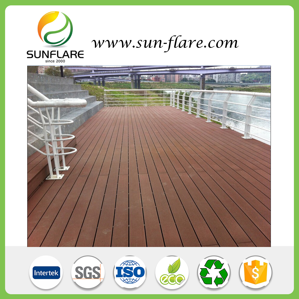 Sunflare WPC Decking Lumber for Swimming Pool, Poolside