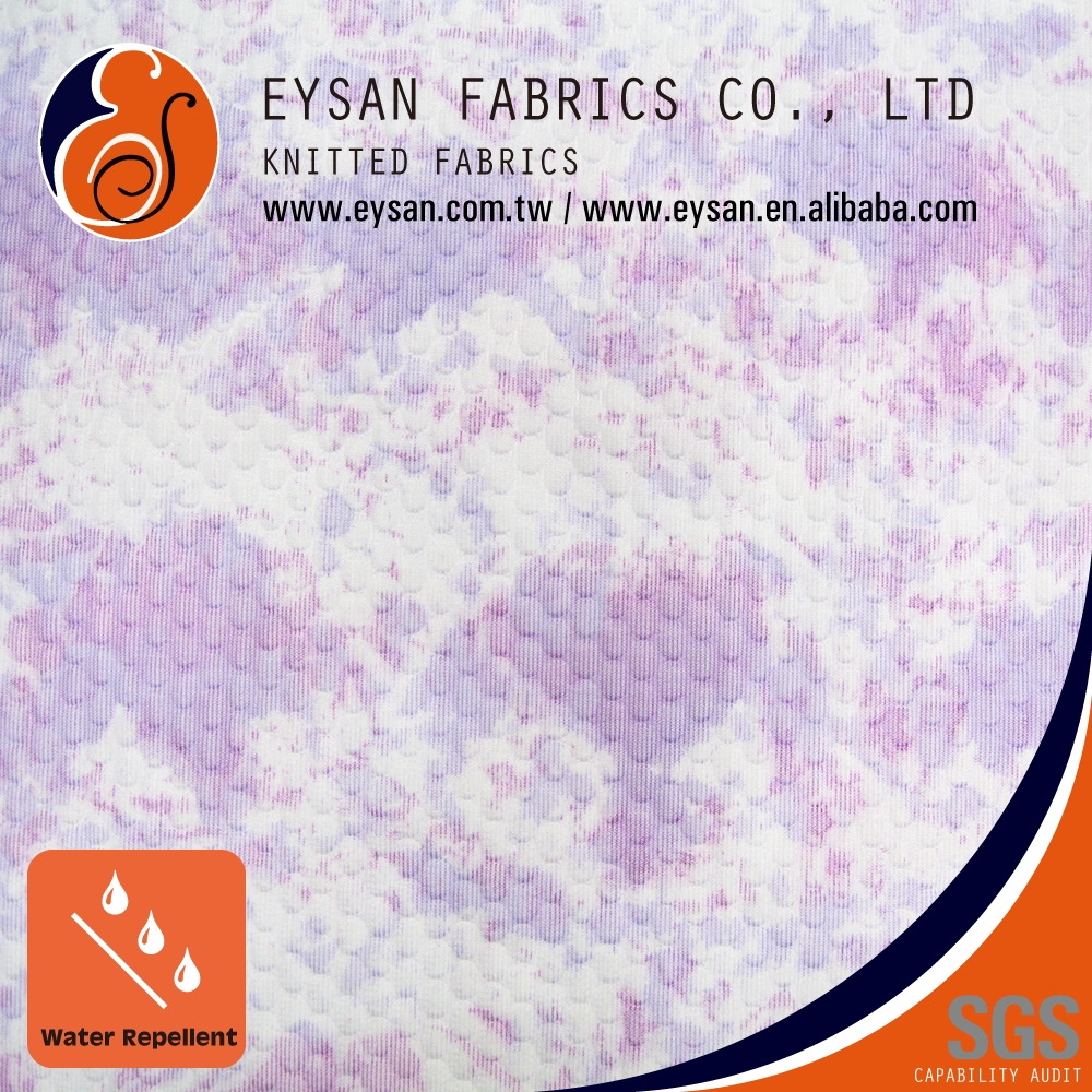 EYSAN 100% Polyester Water Repellent Tie Spread Dyed Tricot Fabric
