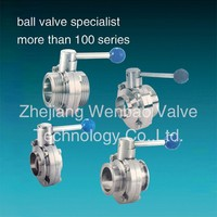 Sanitary Stainless steel Butterfly Valve Manufacturers