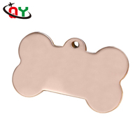 Wholesale promotional diversified and multi-material dog tag necklace shiny brass etched engraved dog tag