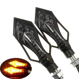 BephaMart 2x 9 LED Motorcycle Motorbike Turn Signal Indicators Lights Amber Shipped and Sold by BephaMart