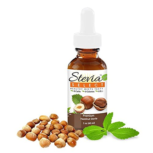 Liquid Stevia Hazelnut-Stevia Select Natural Sweetener-Stevia Drops From Sweet Leaf -Liquid Stevia 2 Oz. Stevia - Perfect For Any Weight Loss- Diet Plan-Best Tasting Stevia Drops Guaranteed! …