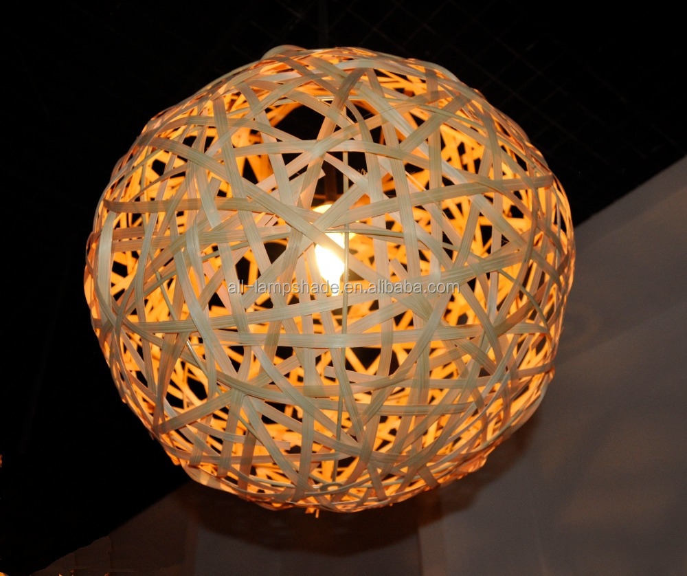 ball shape bamboo lampshade