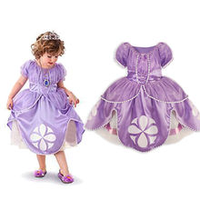 New font b Fancy b font Kids Baby Girls Princess Clothes Costume Short Sleeve Cosplay font