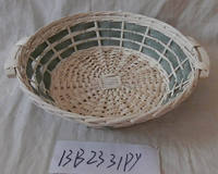 samll round colored willow tray