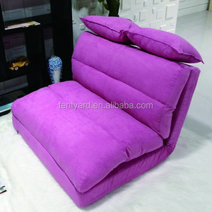 light purple double seat sofa folding floor legless chair