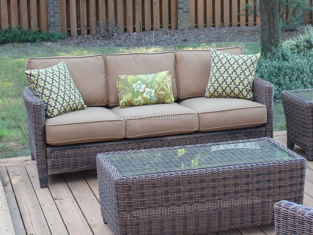Casual Home Aluminium Frame Rattan Woven Garden Sofa Set Modern Outdoor Wholesale Used Furniture