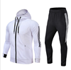 Streetwear 100% cotton stripe sports tracksuit men gym apparel /men training wear