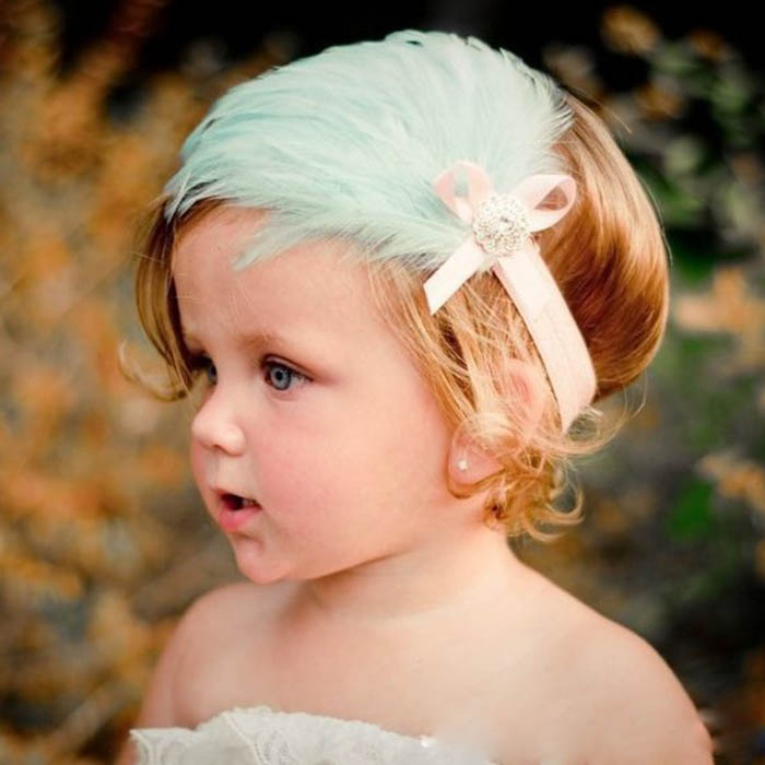 ZOGIFT Hot Selling Baby Hair Accessories /Multi-colored Feather Baby Headbands /2017 Headbands For Baby