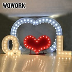 WOWORK 2019 led illuminated heart shape wedding arch decoration at stage wedding event led lighting