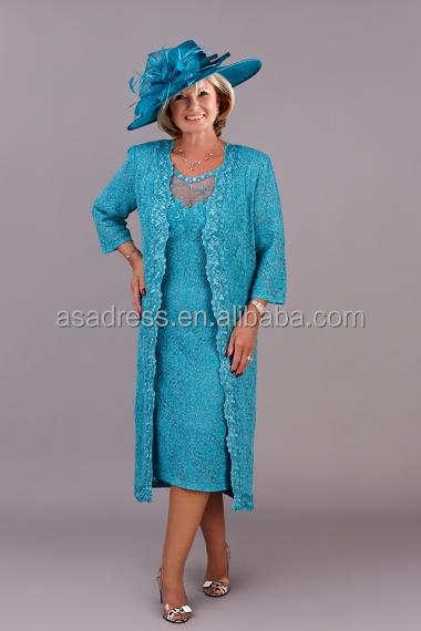 Plus Size Elegant Bräutigam Mutter Kleider Hochzeit Sherwani Blue ...