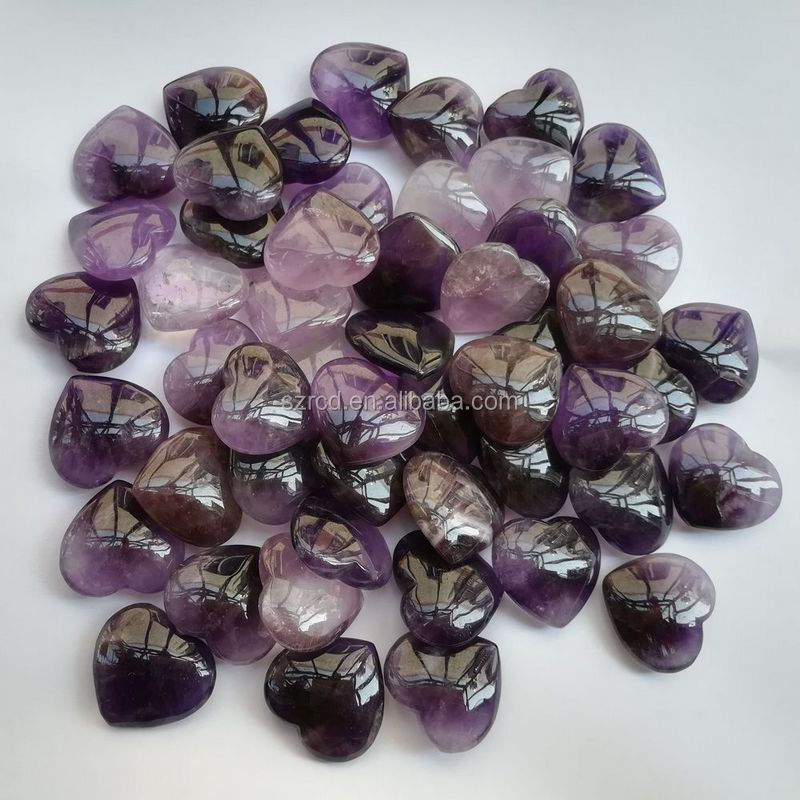 Wholesale amethyst heart pendant natural crystal