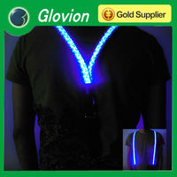 Personalize LED flashing suspender customize suspender for man