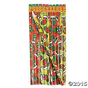2 Dozen (24) Wooden Jolly CHRISTMAS Stocking Pencils - Holiday PARTY FAVORS Classroom Gifts Rewards DAYCARE by OTC