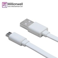 Flat Noodle Auto Data Link Cable with Micro USB Data