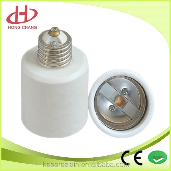 good quality e27 to e40 porcelain adaptor ceramic lamp base