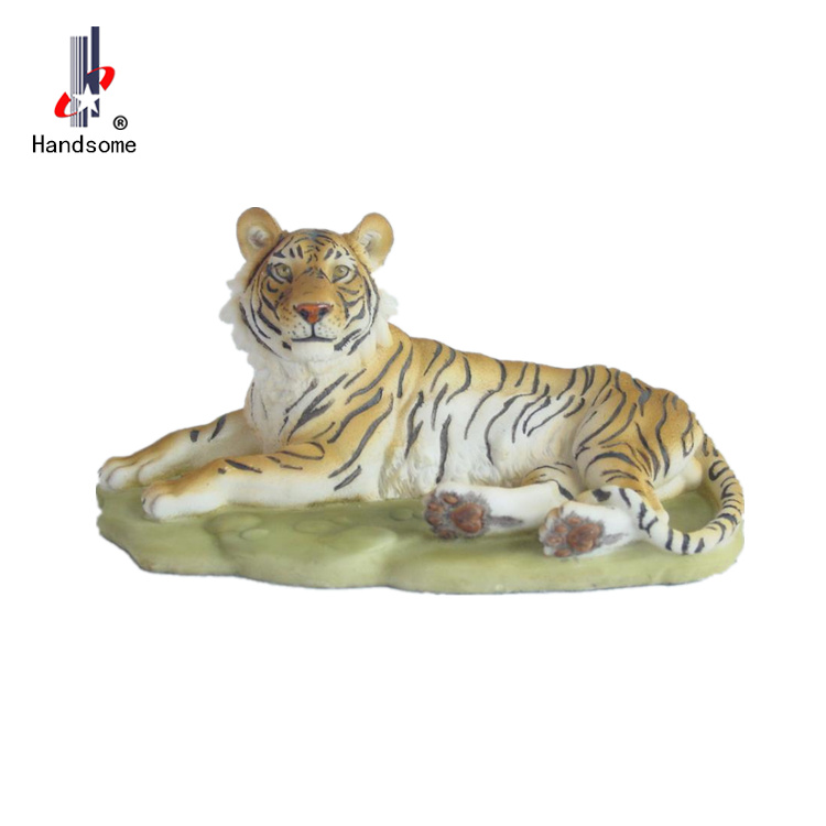 "12""home decoration animal resin statue tiger handcraft discount"